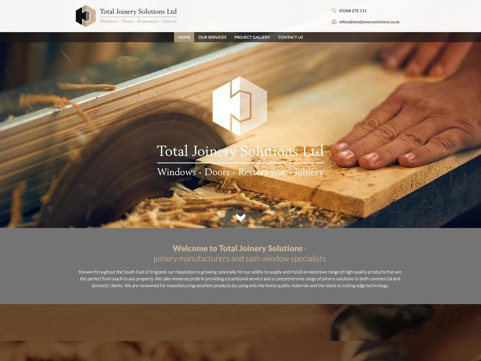 The Total Joinery website created by it'seeze Website Design Ipswich
